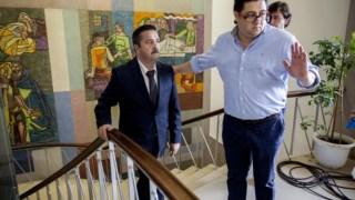 """Manuel Godinho no Tribunal de Aveiro. O julgamento do processo """"Face Oculta"""" começou há mais de seis anos"""