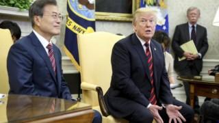 Moon com Trump na Casa Branca,Moon com Trump na Casa Branca