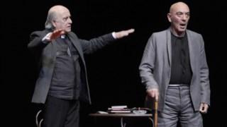 Júlio Cardoso e António Reis na produção <i>Espectros</i> de Henrik Ibsen, em 2016