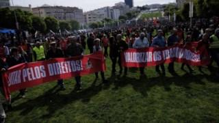 Aumentos na função pública foram uma das reivindicaç~eos das centrais sindicais no 1.º de Maio