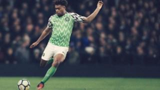 Alex Iwobi, Copa do Mundo da FIFA de 2018, seleção nacional de futebol da Nigéria, Nigéria, Jersey