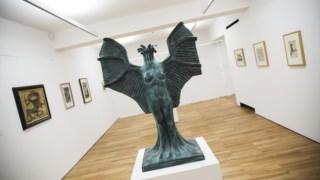 Museu de arte, escultura, exposição de arte
