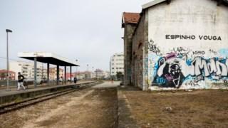 Transporte ferroviário, graffiti, trem, rua
