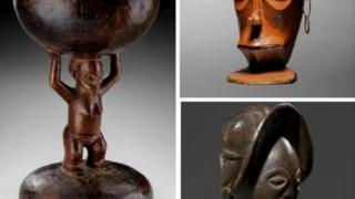 Algumas das peças agora devolvidas a Angola