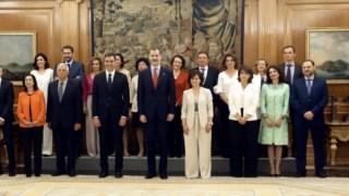 A foto oficial, depois da tomada de posse no Palácio da Zarzuela