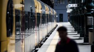 Trânsito rápido, trem, estação de trem