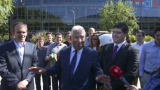 Vice-presidente para os assuntos globais da Google, Kent Walker, ao lado de António Costa.