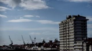 Edifício destaca-se na paisagem da cidade de Viana do Castelo.