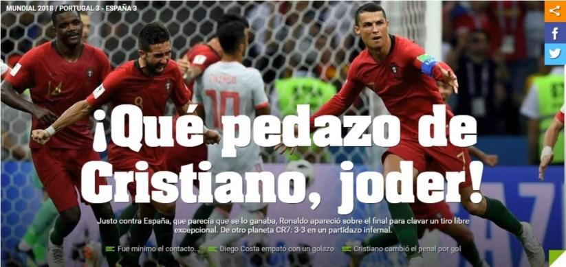 """Revista de imprensa  """"Que gigantesco Cristiano a0afab24b7936"""