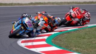 O português Miguel Oliveira (KTM) terminou em segundo lugar o Grande Prémio da Catalunha de Moto2