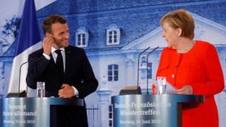 Macron e Merkel anunciam acordo entre os seus países em relação a reforma do euro