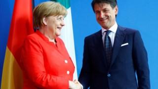 Giuseppe Conte, Angela Merkel, Alemanha, Itália, Síria