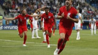 Harry Kane marcou os dois golos de Inglaterra frente à Tunísia
