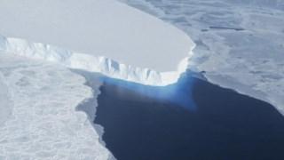 Geleira da ilha do pinho, folha de gelo antárctica, Antártica ocidental, geleira de Thwaites, mar de Amundsen, elevação do nível do mar, geleira