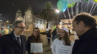 Ritor da UP nuam largada de balões pelo regresso dos jovens emigrados