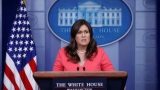 Sarah Huckabee Sanders, Casa Branca, Sala de Imprensa de James S. Brady, Secretária de Imprensa da Casa Branca, Conferência de imprensa