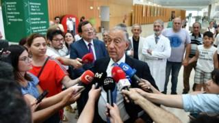 Marcelo explicou aos jornalistas a indisposição ainda no hospital de Braga