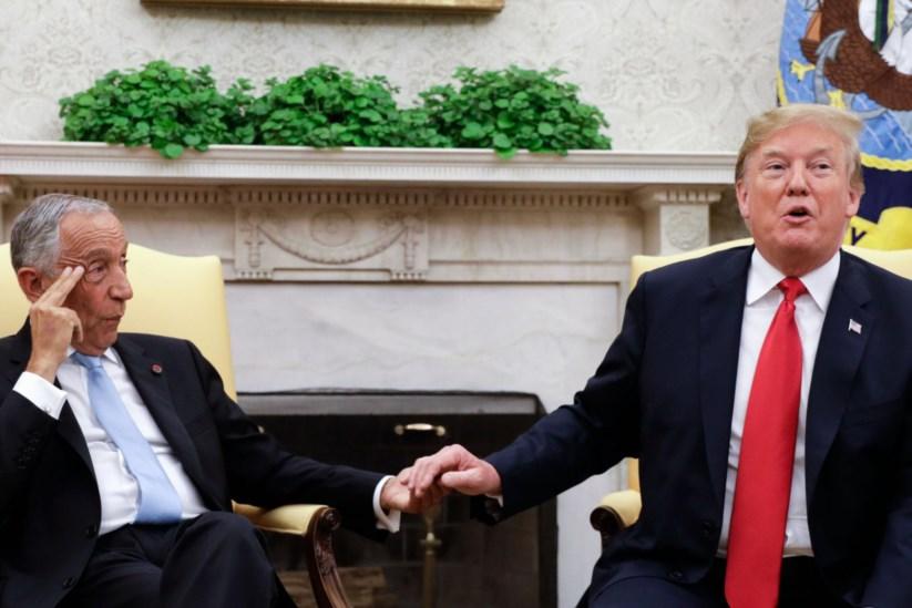 Marcelo e Trump estiveram reunidos esta tarde