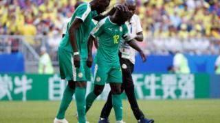 O desalento dos jogadores senegaleses