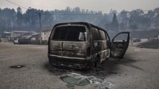 Junho de 2017 Portugal wildfires, Pedrógão Grande, Car