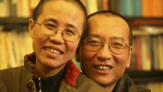 Liu Xia com Liu Xiaobo numa fotografia não datada