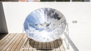 Forno solar, um exemplo de eficiência energética.
