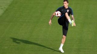 Mandzukic, autor do golo que levou a Croácia à final do Mundial 2018