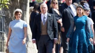 Princesa Eugênia de York, Princesa Beatrice de York, Príncipe Andrew, Duque de York, Sarah, Duquesa de York, Casamento do Príncipe William e Catherine Middleton, Casamento da Princesa Eugenie e Jack Brooksbank, Casamento do Príncipe Harry e Meghan Markle