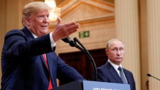 Trump diz que se enganou nas palavras na conferência de Helsínquia