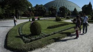 Os jardins que os visitantes vêem quando entram pelo portão principal vão ser reabilitados