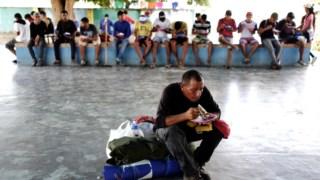 Migrantes venezuelanos na Igreja de Boa Vista, no estado brasileiro de Roraima