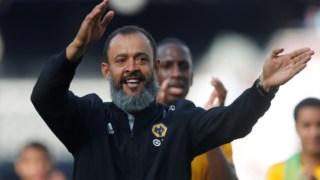 A festa do treinador português do Wolverhampton
