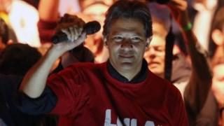 Haddad, ex-autarca de São Paulo, é o actual candidato do PT de Lula a vice-presidente do Brasil