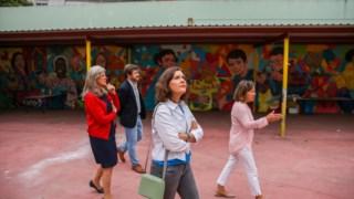 Esta é já a segunda vez que uma comitiva do CDS visita a escola O Leão de Arroios