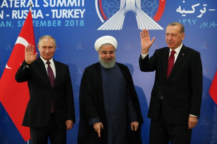 Putin, Rouhani e Erdogan reuniram-se em Teerão