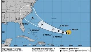 Percurso que o furacão deverá seguir até ao final da semana