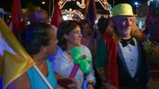 Catarina Martins fez a habitual visita de Setembro às festas da Moita.