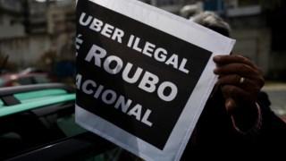 Os taxistas portugueses começaram a manifestar-se contra a Uber há dois anos