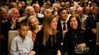 A filha Aida, a neta Joana Estrela, diplomata, e o bisneto mais velho de Franco Nogueira