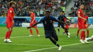 França e Bélgica encontraram-se no Mundial 2018, nas meias-finais