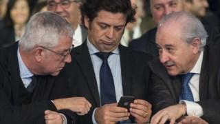Salvador Malheiro entre Fernando Negrão e Rui Rio
