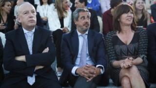 José Eduardo Martins ao lado de Teresa Leal Coelho
