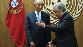 Guterres e Marcelo reuniram-se na sede das Nações Unidas, em Nova Iorque