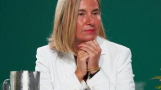 O anúncio foi feito por Federica Mogherini, responsável pela política externa da UE