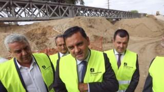 Ministro visitou, em Setembro, a Linha do Leste, atualmente em curso no troço Elvas - Caia.