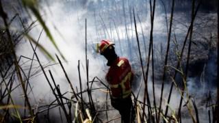 Incêndio deflagrou este sábado à noite e encontra-se em fase de rescaldo.