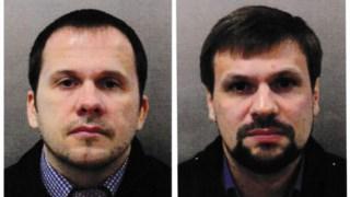 Alexander Petrov (à esquerda) e Ruslan Boshirov (à direita)