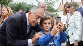 Marcelo Rebelo de Sousa não escapou às selfies