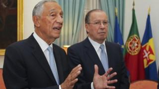 Marcelo Rebelo de Sousa com o representante da República para a Madeira, Irineu Barreto