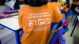 Estes três gestos são reconhecidos internacionalmente como a resposta mais adequada para os cidadãos se protegerem em caso de sismo